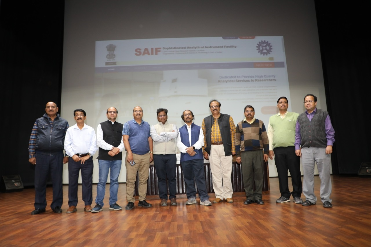 On the occasion of 'Science Day', the Director, CSIR-Central Drug Research Institute inaugurated the new website of SAIF, Lucknow